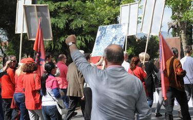 Sa jednog od protesta za Prvi maj