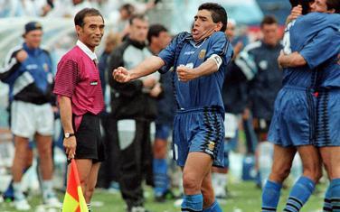 Maradona nakon meča sa Grčkom