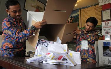 Sa glasačkog mjesta u Indoneziji