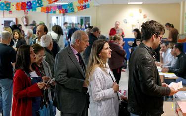 Sa glasačkog mjesta u Madridu