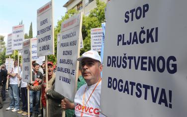 Sa jedne od prethodnih Prvomajskih protestnih šetnji