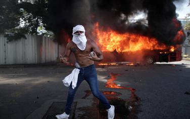 Jedan od demonstranata u Karakasu