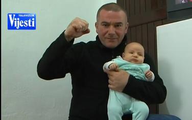 Vladan Šćepanović sa kćerkom Slobodom