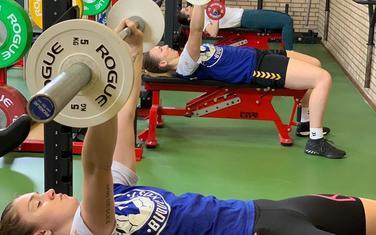 Ema Ramusović, Tatjana Brnović i Marina Rajčić na treningu