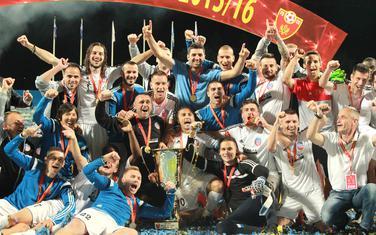 Slavni dani: Fudbaleri Rudara slave osvajanje Kupa 2016.