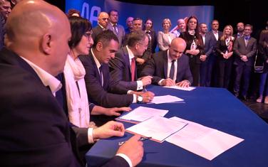 oručuju da ne žele da otimaju glasove opoziciji: Sa potpisivanja sporazuma u Bijelom Polju