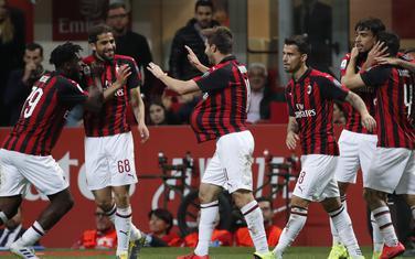 Fudbaleri Milana slave gol Fabija Borinija