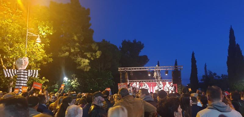 Sa večerašnjeg protesta u Podgorici