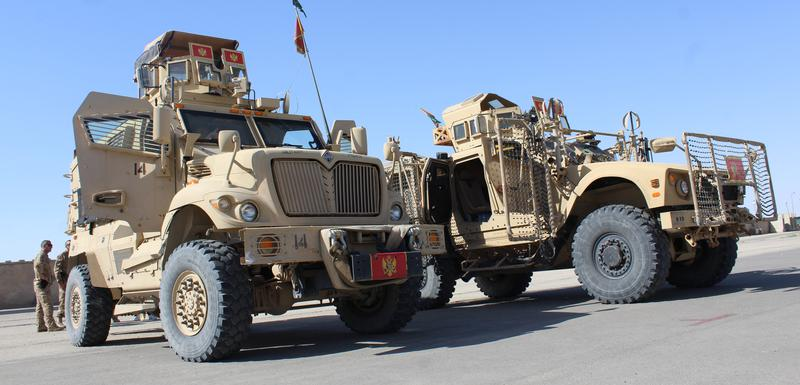 """Pripadnici VCG koriste """"oškošova"""" vozila u Avganistanu"""
