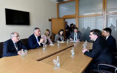 Sastanak predsjednika Crne Gore Mila Đukanovića i zamjenika pomoćnika državnog sekretara SAD-a Metjua Palmera