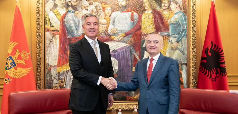Predsjednik Crne Gore Milo Đukanović i predsjednik Albanije Ilir Meta