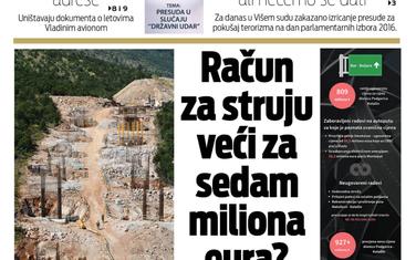 """Naslovna strana """"Vijesti"""" za 9. maj"""