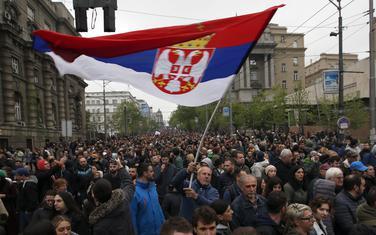 Sa jednog od protesta u Beogradu