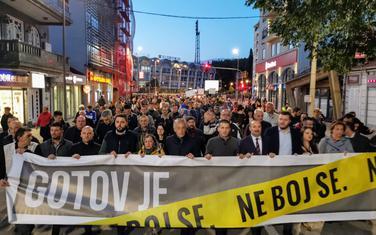 """Sa jednog od protesta """"Ne boj se"""" čiji je jedan od organizatora i Demokratska Crna Gora"""