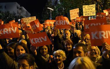 """Sa protesta pokreta """"Odupri se"""" održanog 7. maja"""