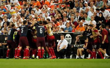Slavlje fudbalera Arsenala