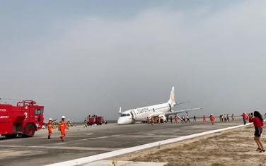 Slijetanje mjanmarskog aviona