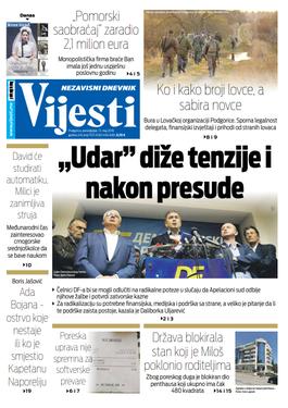 """Naslovna strana """"Vijesti"""" za 13. maj"""