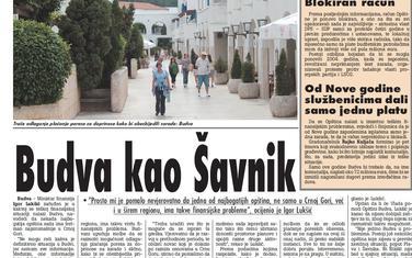 """""""Vijesti"""", 10. maj 2009."""