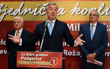 Završna izborna konferencija u Podgorici: Marković, Đukanović i Milošević