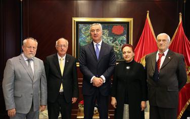 Predsjednik Crne Gore Milo Đukanović i predstavnici SUBNOR-a