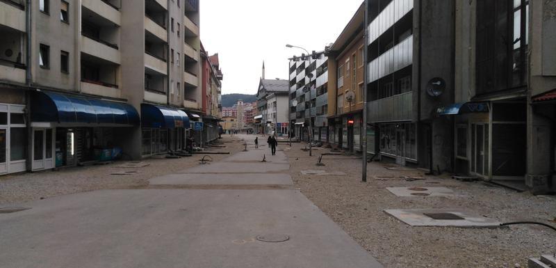 Trenutno stanje u glavnoj ulici u Pljevljima