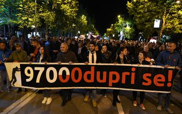 Sa protesta u Podgorici: Ilustracija