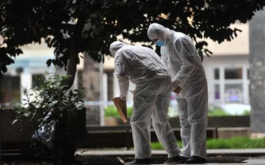 Forenzičari uzimaju tragove nakon ubistva Šakovića