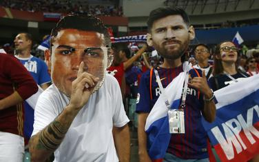 Ronaldo i Mesi kao navijački rekviziti
