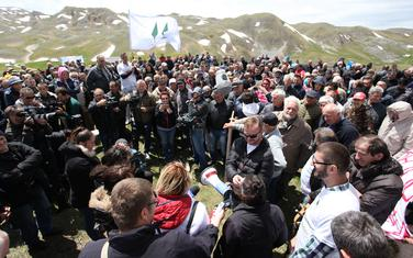 Protest juče na Sinjajevini