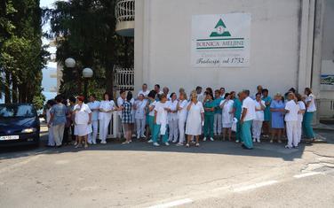 Zaposleni u Bolnici Meljine