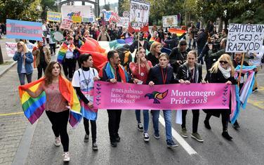 """Sa prošlogodišnje """"Parade ponosa"""" u Podgorici"""