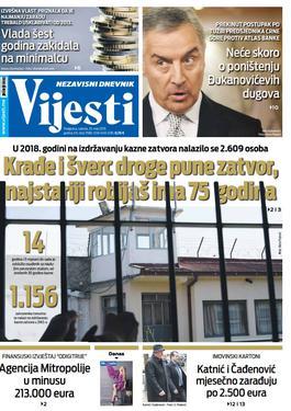 """Naslovna strana """"Vijesti"""" za 25. maj"""