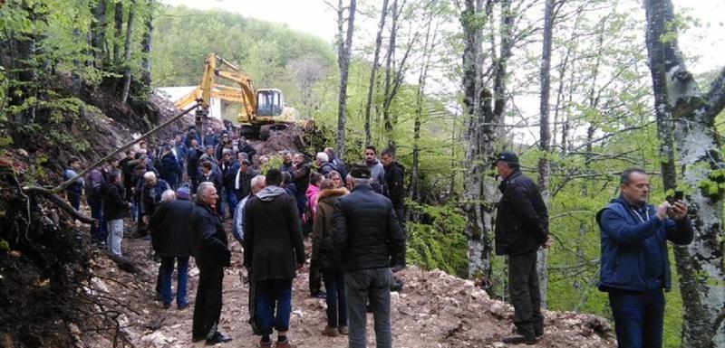 Stopirati gradnju: Sa protesta protiv izgradnje mHE na Bukovici