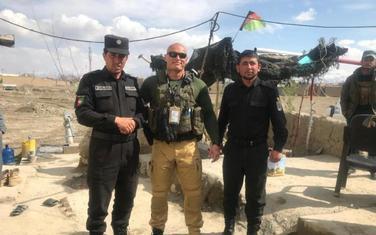 Radovan Lampič sa avganistanskom policijom