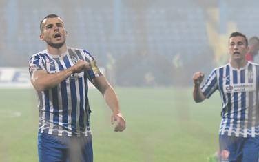 Perović slavi gol za Budućnost