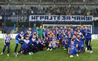 Slavlje fudbalera i stručnog štaba Budućnosti