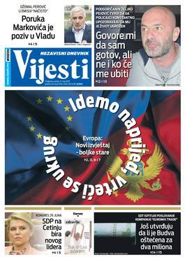 """Naslovna strana """"Vijesti"""" za 31. maj"""