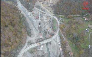 Radovi na Tari povodom gradnje autoputa