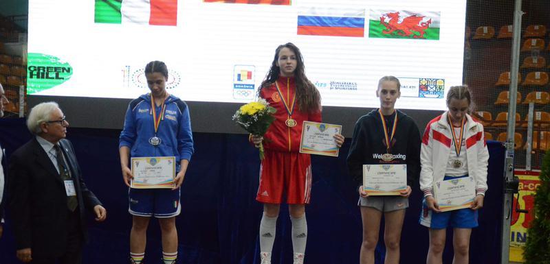 Bojana Gojković na pobjedničkom postolju u Galati