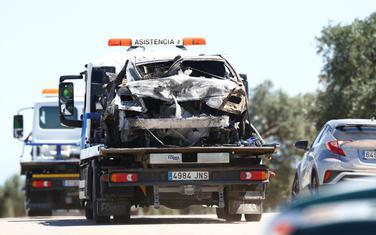 Uništeni automobil u kojem je stradao Rejes