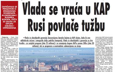 """Vijesti"", 3. jun 2009."