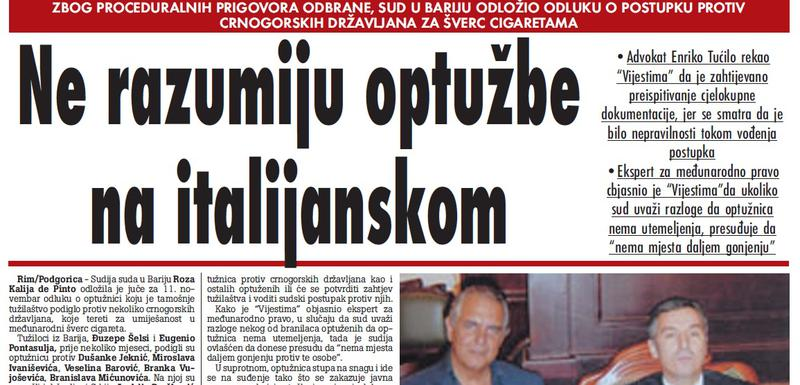 """""""Vijesti"""", 4. jun 2009."""