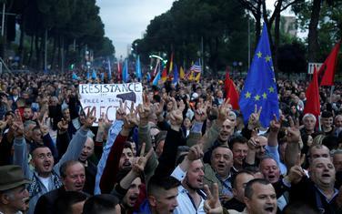Sa opozicionih protesta u Tirani