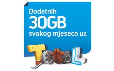 Dodatnih 30 GB za korisnike svakog mjeseca