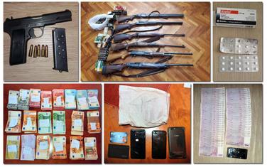 Zaplijenjeni oružje, droga, novac...