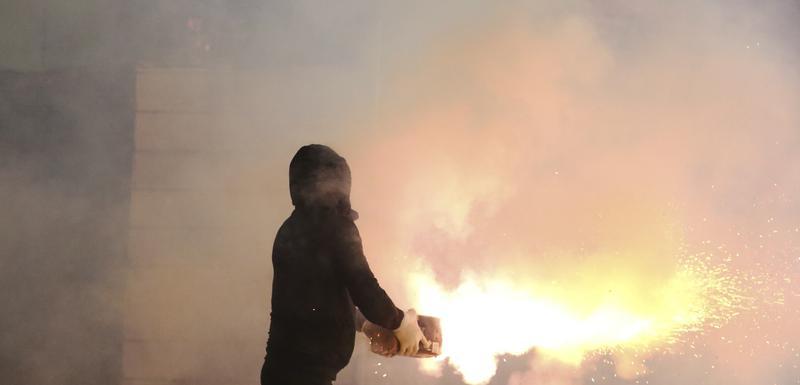Detalj sa protesta u Albaniji