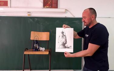 Ponosan na radove učenika: Goran Ćetković