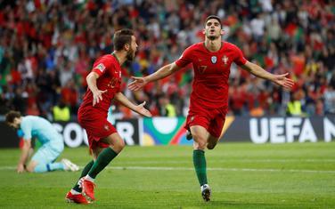 Gonsalo Gedeš i Bernardo Silva slave jedini gol