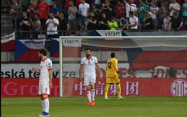 Fudbaleri Crne Gore nakon primljenog gola